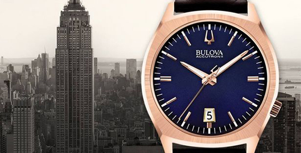 zegarek bulova na zlotej bransoletce 1960